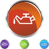 Oil Can button — Stock Vector