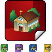 Church web button — Stock vektor