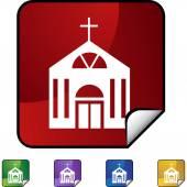 Church web button — Stockvektor