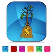 Sapling money tree — Stock Vector
