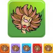 Lion web Icon — Stockvector