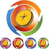 Bagel web icon — Stock Vector
