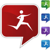 Runner Icon set — Wektor stockowy