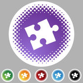 Puzzle  web icon — Stock Vector