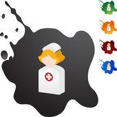 Nurse web icon — Stock Vector