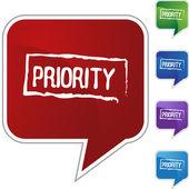 Priority web icon — Stockvector