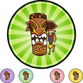 Witchdoctor web button — Stock Vector