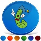 Worm Gemstone Button Set — Stockvektor