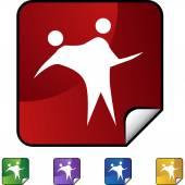 Couple Dancing web button — Stockvector