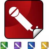 Bouton de microphone web — Vecteur