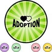 Adoption web button — Stock Vector