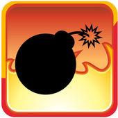 Bomb icon button — Stock Vector