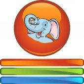 Elephant  web Icon — Stock Vector