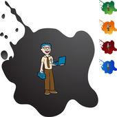 Computer Repair web icon — Stock Vector