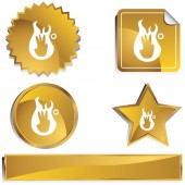 Third Degree Burn web button — Stock Vector