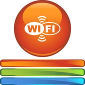 Веб кнопку Wifi — Cтоковый вектор