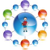 Koç web simgesi — Stok Vektör