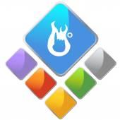 Ersten Grad brennen Symbol — Stockvektor