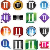 символ зодиака близнецы — Cтоковый вектор