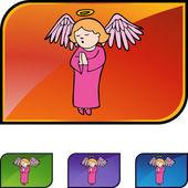 Praying Girl Angel — Stock Vector