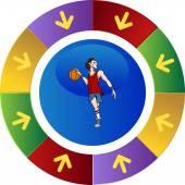 Basketball player-symbol — Stockvektor