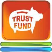信託基金の web アイコン — ストックベクタ