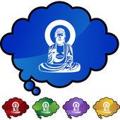 Buddha web icon — Stockvector