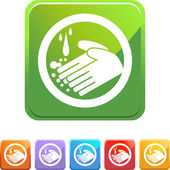 Handwashing button icon — Stock Vector