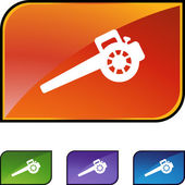 Leaf Blower web button — Stock Vector