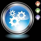 Machine Wheel Icon — Stockvector