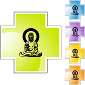 Buddha web icon — Stockvektor
