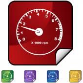 Tachometer web icon — Stockvector