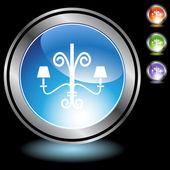 Chandelier web button — Stockvector