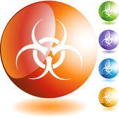 Biohazard web icon — Stock Vector