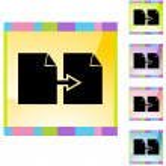 Copy Paper button set — Stock Vector #64141453