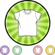 Wit Shirt pictogram — Stockvector  #64142009