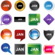 January web button — Stock Vector #64142345