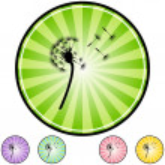 Dandelion web icon — Stock Vector #64142549