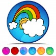 Lucky Rainbow Shiny Button Set — Stock Vector #64143471
