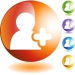 Add Friend web button — Stock Vector #64143553