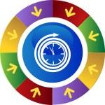 Clock web button — Stock Vector #64144495