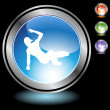 Breakdancer icon web button — Stock Vector #64145357