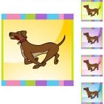 Running Dog web icon — Stock Vector #64145805