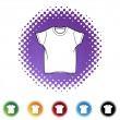 Wit Shirt pictogram — Stockvector  #64146241