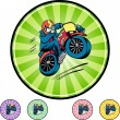 Motorcycle Stunt web icon — Stock Vector #64146447