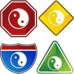 Yin Yang web icon — Stock Vector #64147263