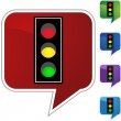 Traffic Light web button — Stock Vector #64148545