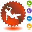 Breakdancer icon web button — Stock Vector #64148605