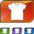 Wit Shirt pictogram — Stockvector  #64148797