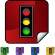 Traffic Light web button — Stock Vector #64149975